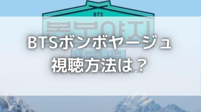 BTSボンボヤージュ無料視聴&日本語字幕