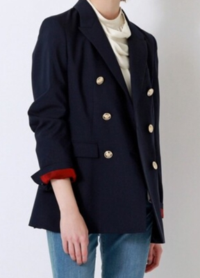 リコカツ北川景子着用のネイビー(紺)と金ボタンのジャケット