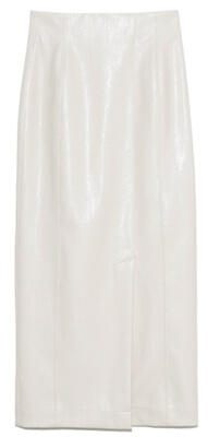 着飾る恋には理由があって川口春奈さんが1話のイベントで履いていた白いレザースカート