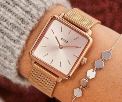 着飾る恋には理由があって川口春奈が身に付けていたピンクゴールドの腕時計