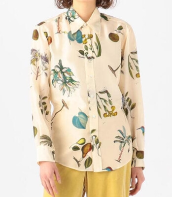 大豆田とわ子と三人の元夫・松たか子衣装・ボタニカル柄のシャツ