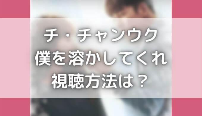僕を溶かしてくれはネットフリックスで配信?動画を日本語字幕で見る方法