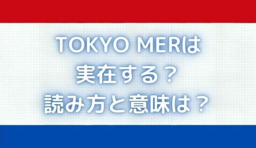 TOKYOMERの救急車は実在するのか?読み方と意味も徹底解説!